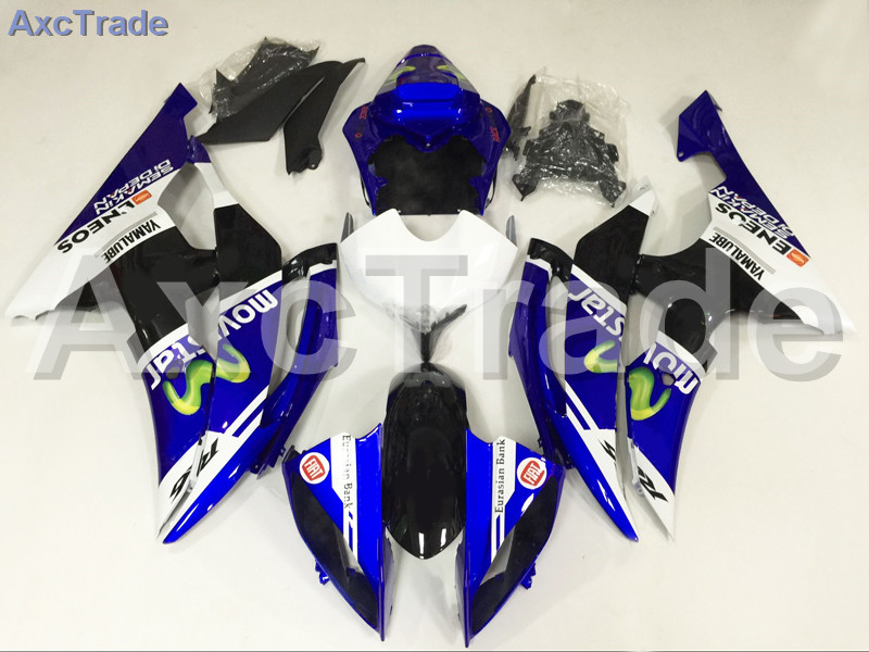 Motorcycle Fairings Kits For Yamaha YZF600 YZF 600 R6 YZF-R6 2008-2014 08 - 14 ABS Injection Fairing Bodywork Kit Blue White injection molding bodywork fairings set for yamaha r6 2008 2014 blue white black full fairing kit yzf r6 08 09 14 zb77