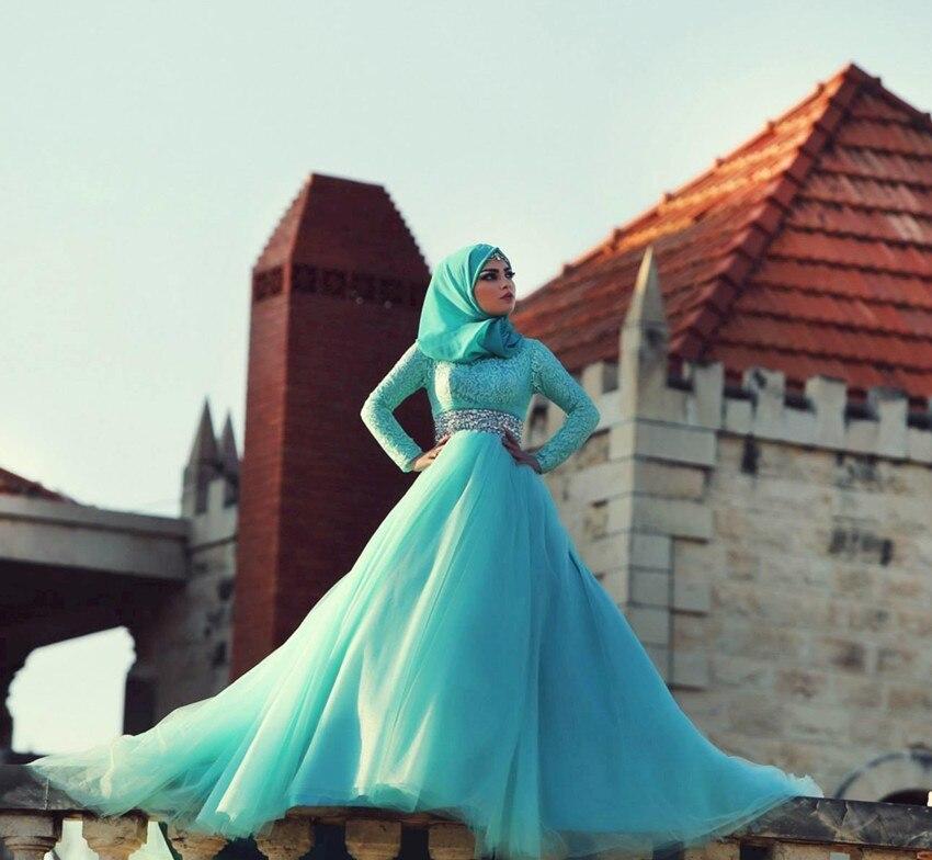 Hot Sale long sleeve Abaya vestido de noiva Formal Muslim Wedding Dresses wdding bridal gown Islamic
