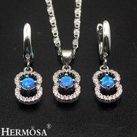 8 Design Australian Fire Opal Sets 925 Sterling Silver Earrings Pendant Necklace Set Cute Wedding Gift Pretty Girls Jewelry