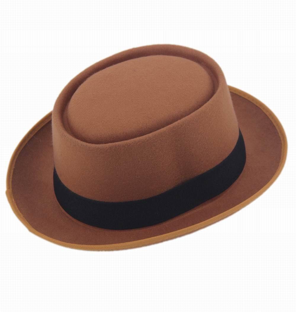 9 цветов, унисекс, женская, мужская шляпа от солнца, фетровая шляпа, свинина, пирог, крушаемая шляпа, ломающаяся Панама, BB шляпа, Уолтер Уайт ХАЙЗЕНБЕРГ, 25 - Цвет: tan
