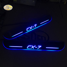 SNCN LED moving light scuff pedal for Mazda CX-7 CX7 car acrylic led door sill welcome