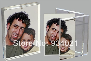 "Clear Magnetic Acrylic Photo Frame 8"" X 10"" Plexiglass Picture Frame plexiglass"