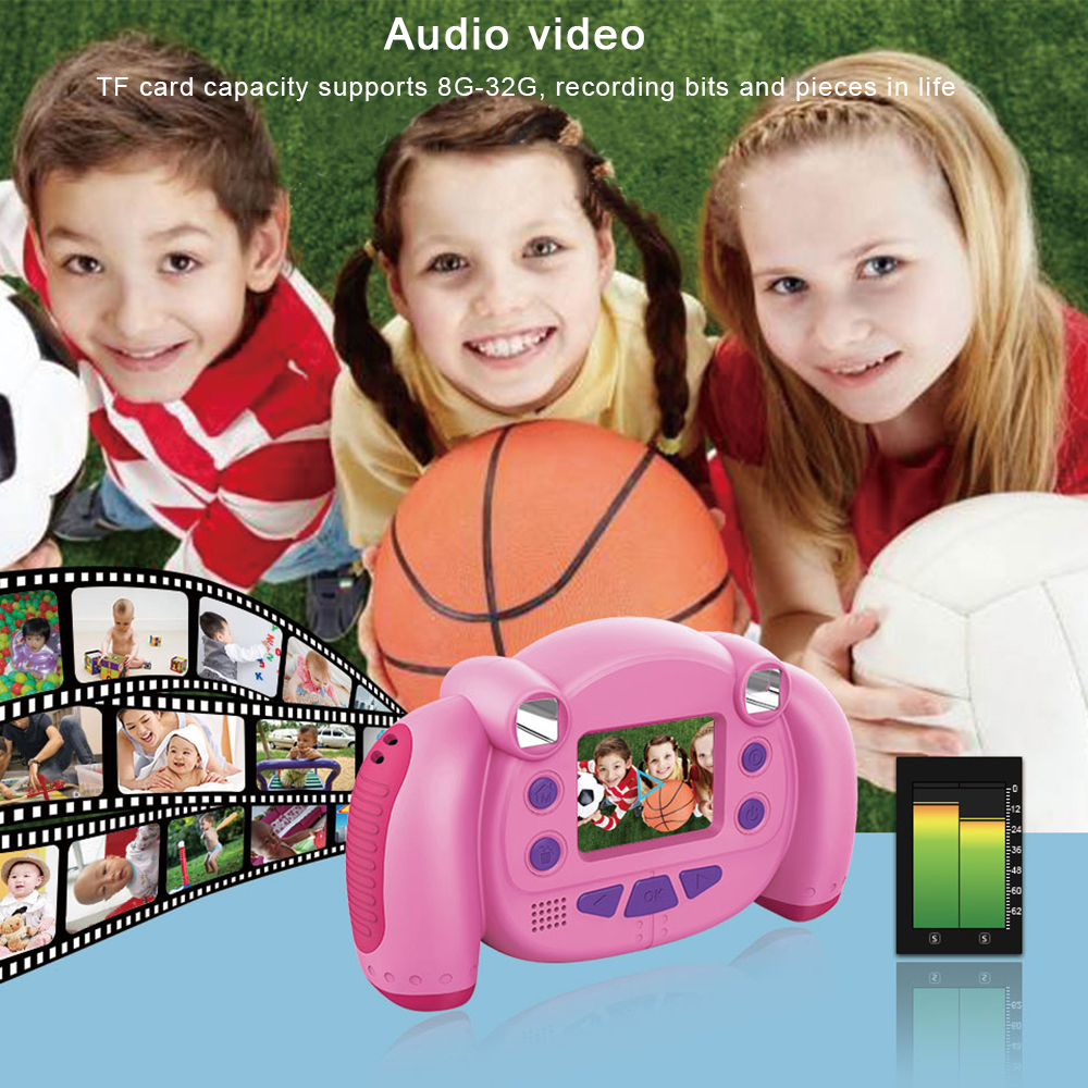 KC501 Mini Digital Camera 2 Inch Cartoon Cute Camera Toys Children Birthday Gift 1080P Toddler Toys Camera Drop Shipping