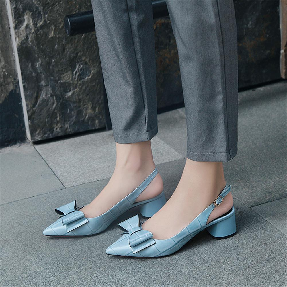 Brand top quality Sheepskin Sweet Bowtie Pumps Woman Shoes Pointed Toe genuine leather Chunky Heels Shoes Woman Pumps FootwearBrand top quality Sheepskin Sweet Bowtie Pumps Woman Shoes Pointed Toe genuine leather Chunky Heels Shoes Woman Pumps Footwear