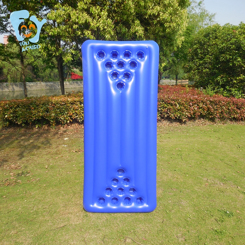 Fun Pool Floats 20 Cup Holes Inflatable Beer Pong Table Swimming Float Inflatable Float Mattress Water Toys