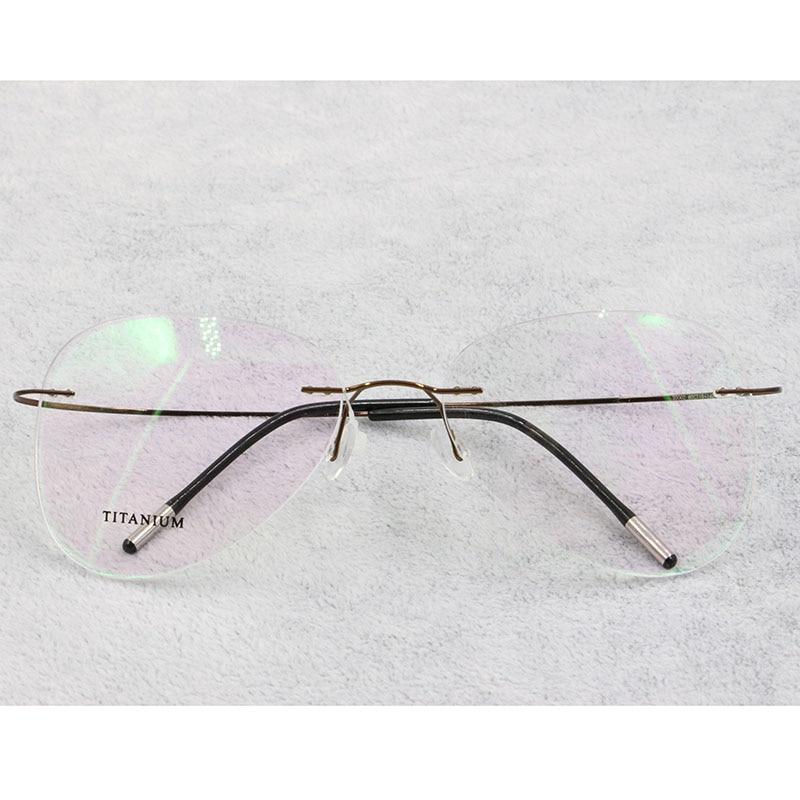 Image 5 - BCLEAR Titanium Rimless Fashion Designer Eyeglasses Optical Glasses Frame Men and Women Eyewear Lightweight Flexible SpectacleMens Eyewear Frames   -