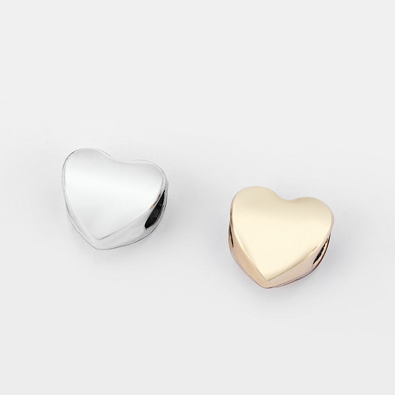 10pcs Charms Heart Slider Beads Spacer For 5mm Round Leather Cord Bracelet Jewelry Making Findings Accessories Material