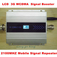 LCD Display !! Mini W CDMA Signal Booster 2100Mhz 3G Signal Repeater WCDMA Signal Amplifier Cell Phone Signal Booster Amplifier