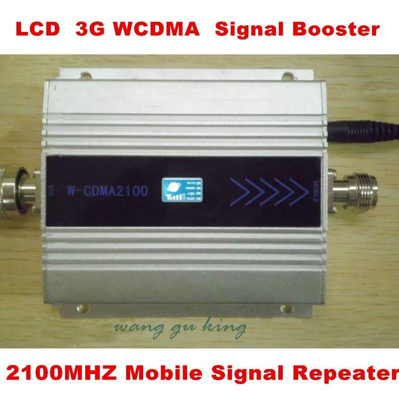 Pantalla LCD! Mini Amplificador de Señal W-CDMA 2100 Mhz 3G WCDMA Repetidor de Señal Amplificador de Señal de Teléfono Celular Amplificador de Señal Amplificador