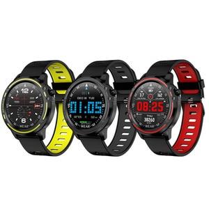 Image 5 - L8 ساعة ذكية IP68 مقاوم للماء Smartwatch موليتي الرياضة الرجال ECG PPG ضغط الدم سوار قياس معدل ضربات القلب