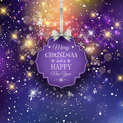 snowflake sparkly purple merry christmas happy year backdrop vinyl cloth computer printed party photography studio background in background from consumer