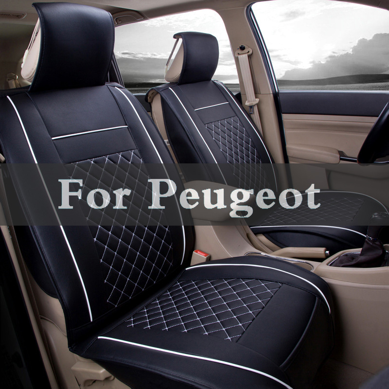Luxury Car Seat Cover Universal Pu Leather Auto Seat Pad For Peugeot 1007 206 208 208 207 Gti 301 3008 107 2008 108 307 2018new luxury pu leather auto universal car seat covers automobile seat cover for car peugeot 206 for car lada kalina in hot