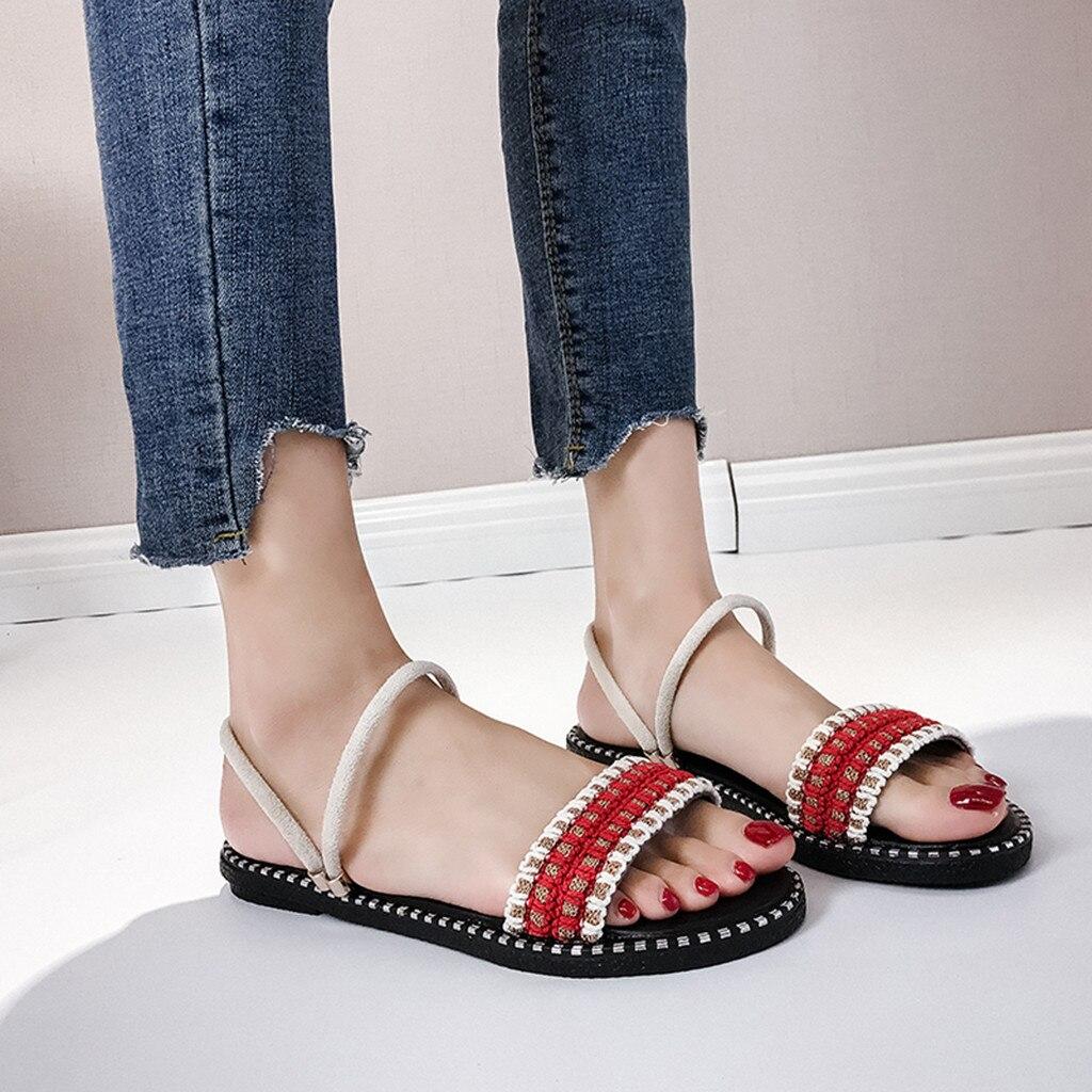 Schuhe Preiswert Kaufen Morazora 2019 Neueste Böhmischen Stil Strand Schuhe Frauen Sandalen Süße Blume Perle Sommer Schuhe Bequem Flache Schuhe Große Größe 43