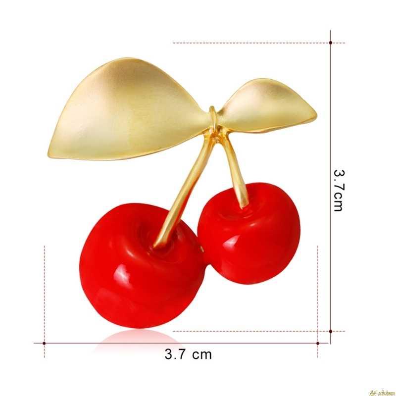 2018 Cherry Bros Wanita Pria Perhiasan Vintage Burung Merak Enamel Buah Korsase Hadiah Pin M-Bersinar A18_40