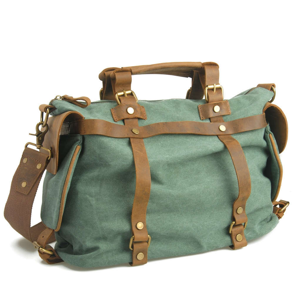 M053 Women's Bag Sale Men Women Leather Canvas Bags Portable Travel Bag Crossbody Vintage Big Shoulder Female Textile Handbags aosbos fashion portable insulated canvas lunch bag thermal food picnic lunch bags for women kids men cooler lunch box bag tote