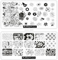 Высокое Качество НОВЫЙ Konad Nail Art Плиты Изображения Ногтей Шаблон Ногтей Стампер Ногтей Диск 6*12 см, 10 Дизайн Ногтей Штамповки