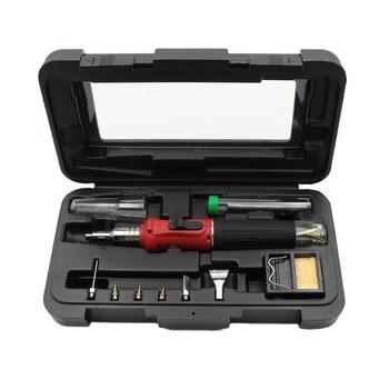10 in 1 HS-1115K Electronic Ignition Gas Soldering Iron Kit Set Gas Blow Torch Solder Iron Gun Welding Pen Burner Tools HS-1115K