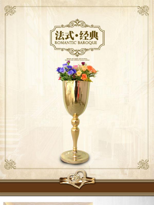 hcm europea moderna jarrones decoracin de la boda de oro piso grande florero del florero de