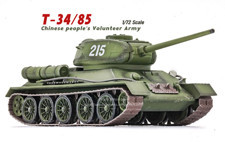 Enthusiastic 1/72 T-34/85 Hero Tank China Volunteer Army Toys & Hobbies 215 Completed Korean War Alloy Model Collection A Complete Range Of Specifications