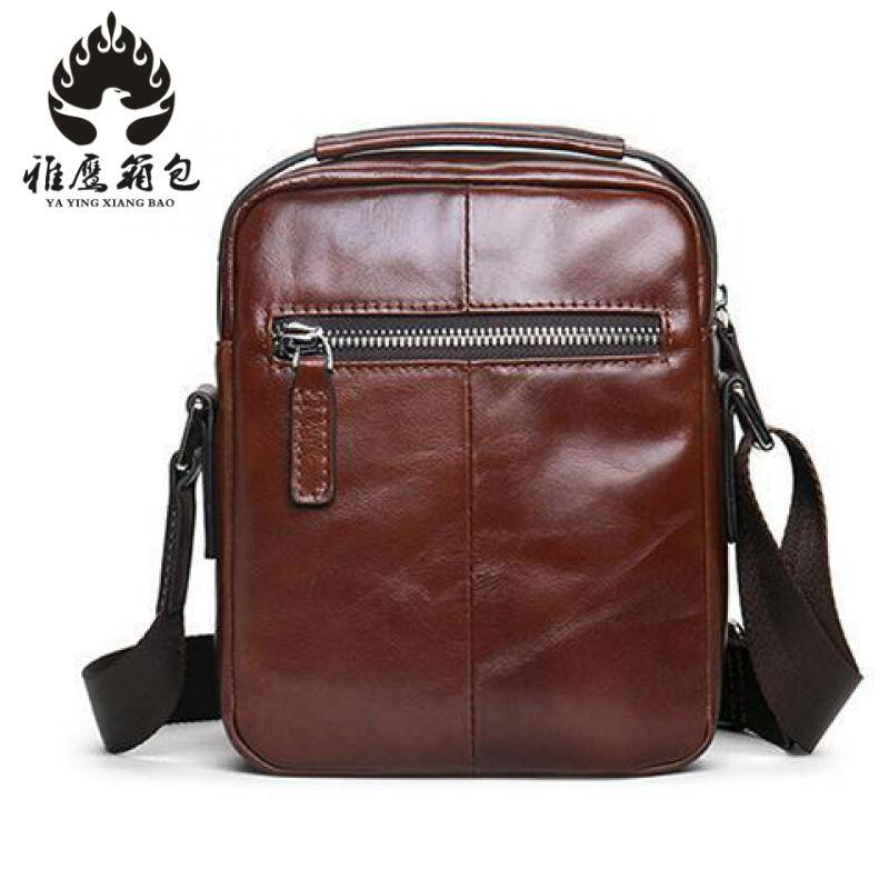 2018 Genuine Leather Mens Bags Male Crossbody Bags Small Flap Casual Messenger Bag Men's Shoulder Bag Genuine Leather Skin fonte switching power 60w 12v s 60 220v ac to dc 5v 12a 12v 5a 15v 4a 24v 2 5a 6v switching power supply led driver adapter