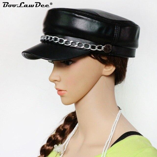 a720d2d3b389d Boolawdee hombres y mujeres casual genuina piel de oveja sombrero de cuero  negro para hombre mujer