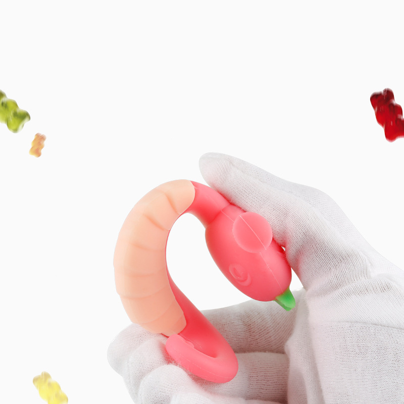 Купить с кэшбэком Boys and girls Hippocampus Silicone Boost bite Molars Baby Teether Molars toys all Silicone Cartoon Baby Teether
