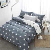 Hogar textil negro gris estrella ropa de cama set100 % algodón elefante piña ropa de cama reina edredón cubierta ropa de cama para adulto los niños