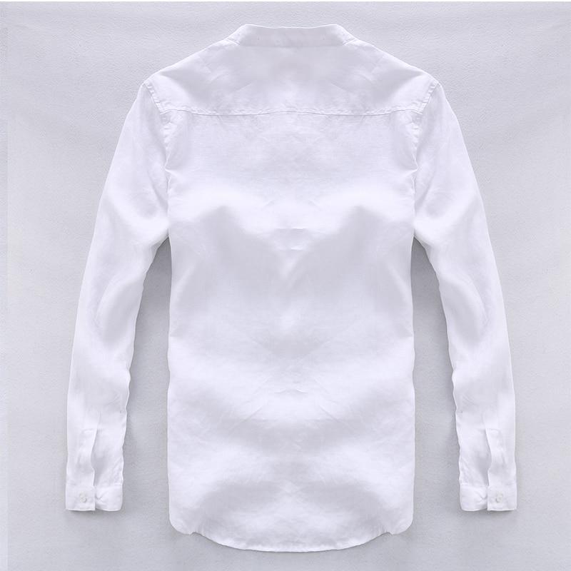 Këmishë për meshkuj Camisa Shirt Veshje për markë prej liri për - Veshje për meshkuj - Foto 2