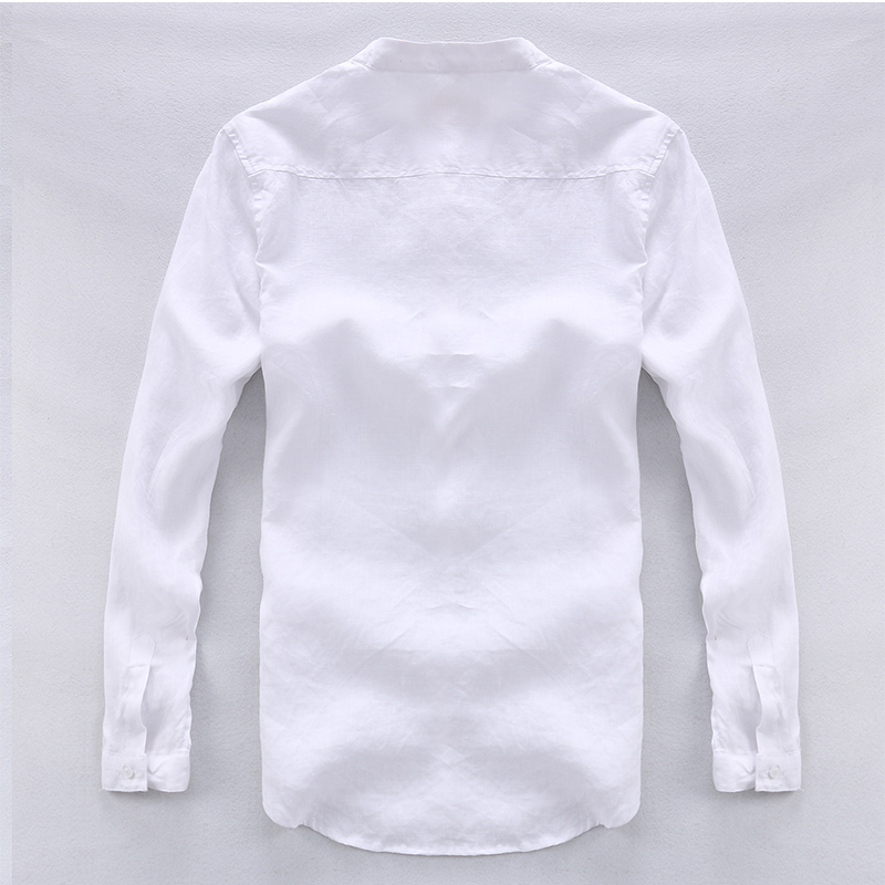 Camisa masculina Shirt Lelaki Linen Designer brand clothing Lelaki - Pakaian lelaki - Foto 2