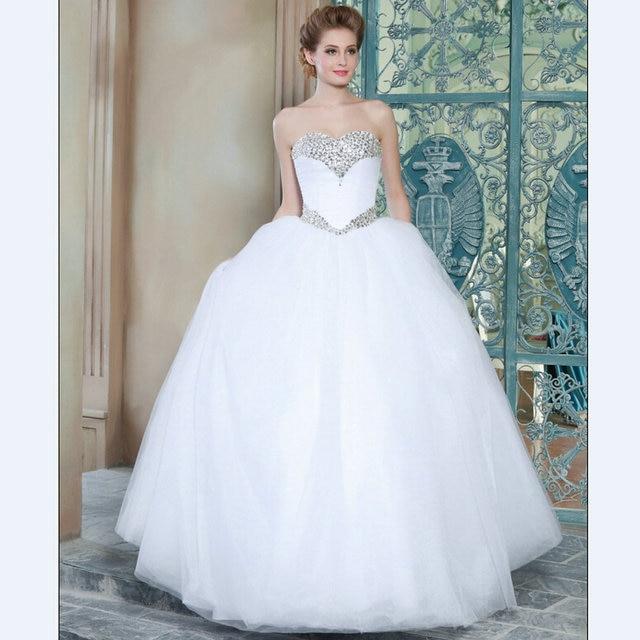Ball Gown Wedding Dresses 2015 Mrw01 Puffy Wedding Gowns Elegant