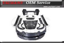 Полный Углеродного Волокна Боди-Кит Fit Для 11-14 Cayenne 958 Mansory Стиль Обвес Бампер Fender Диффузор Капот Юбка Глушитель советы