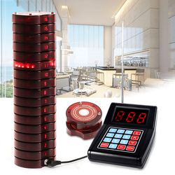 Restaurant Pager Wireless Paging Queuing Calling System 1 Transmitter 999 Channel With 10 Coaster Pagers Restaurant Equipments