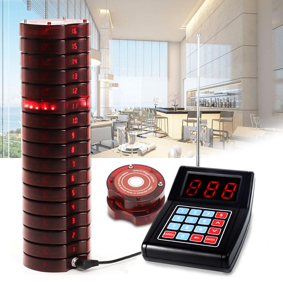 Système d'appel de mise en file d'attente sans fil de téléavertisseur de Restaurant 1 canal de l'émetteur 999 avec 10 équipements de Restaurant de téléavertisseurs de caboteur