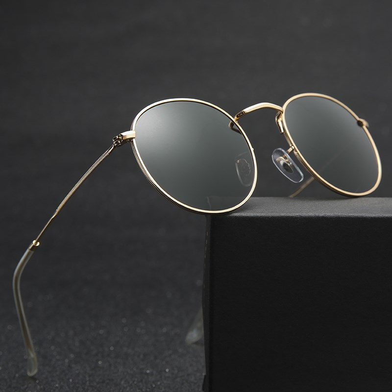 Luxury Round Sunglasses Women Brand Designer 2018 Retro Sunglasses Driving Sun Glasses For Men Female Sunglasses Mirror 3447