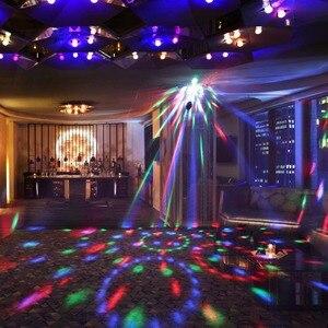 WASEDA DJ ديسكو الكرة لوميير 3 W الصوت المنشط جهاز عرض ليزر RGB المرحلة الإضاءة تأثير ضوء المصباح الموسيقى KTV 7 ألوان