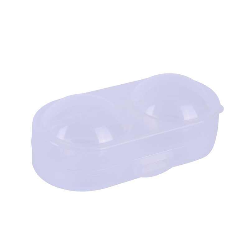 Caja de contenedor de pelota de tenis de mesa caja de plástico duro caja de almacenamiento de pelota de Ping Pong piezas pequeñas accesorio de almacenamiento para 2 Ping pong pelotas