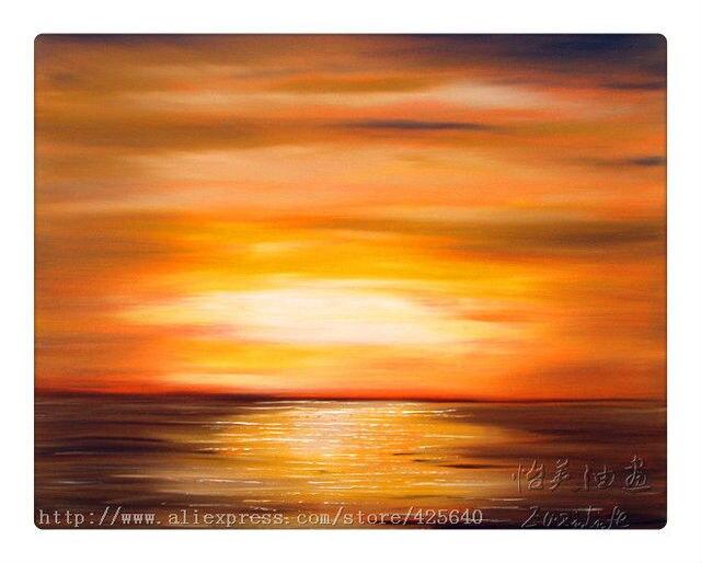 Us 590 Aliexpresscom Eazilife Oil Painting üzerinde Güvenilir Sunset Oil Painting Tedarikçilerden Altın Günbatımı Yağlı Boya Okyanus