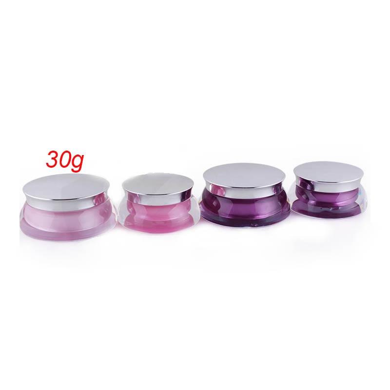 30G НЛА форма ружовага крэм банка пластмасавай банка Касметычныя Jar Касметычная ўпакоўка касметычны кантэйнер
