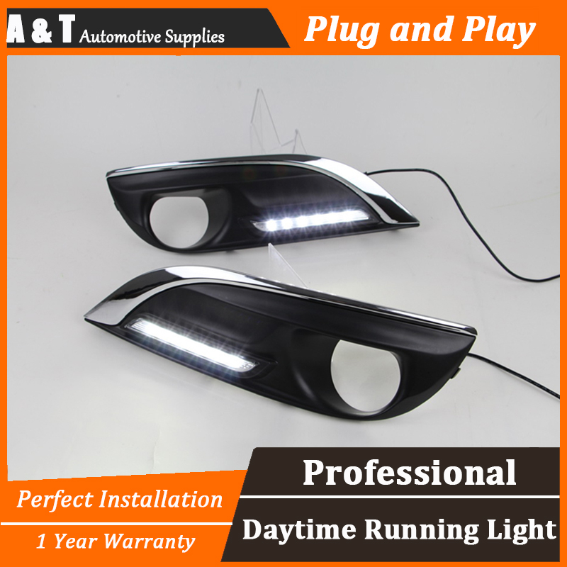 car styling For peugeo 308 2012-2014 LED DRL For 308 2012-2014 led daytime running light High brightness guide LED DRL