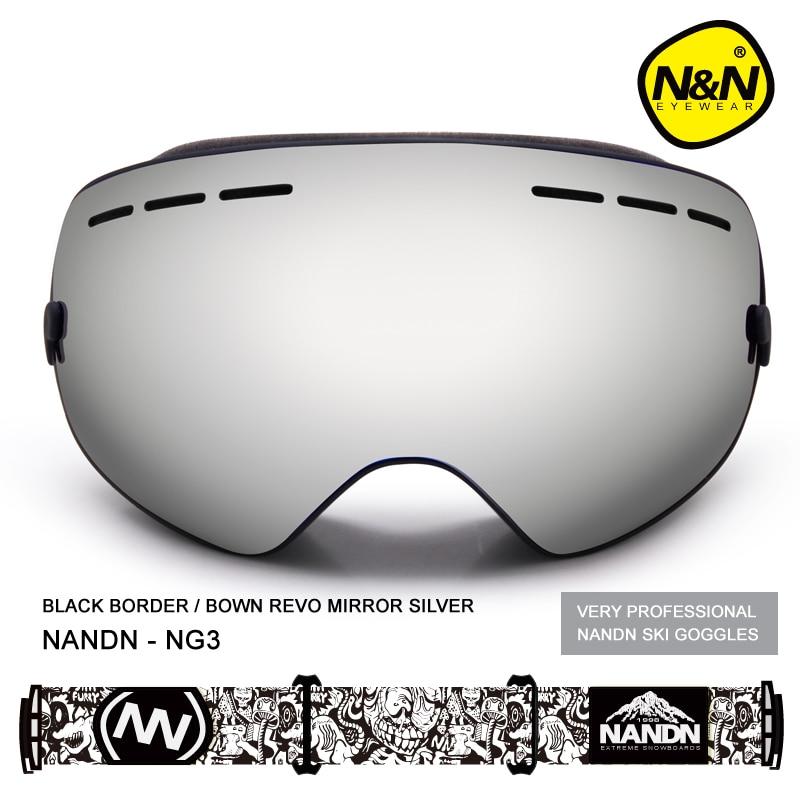 NANDN NG3 Nice font b Skiing b font Snowboarding Goggles Double Layer Ski Googles Men Women
