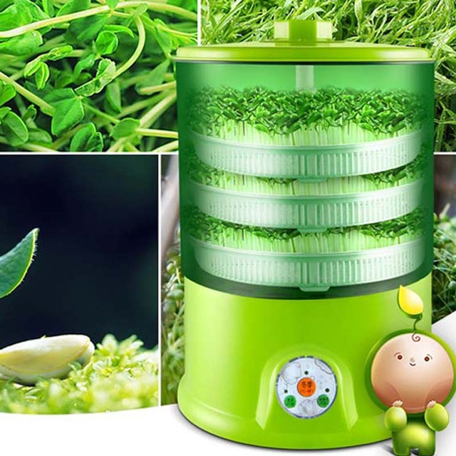 Машина для выращивания фасоли домашняя Автоматическая 3 слойная большая емкость умная многофункциональная машина для выращивания фасоли