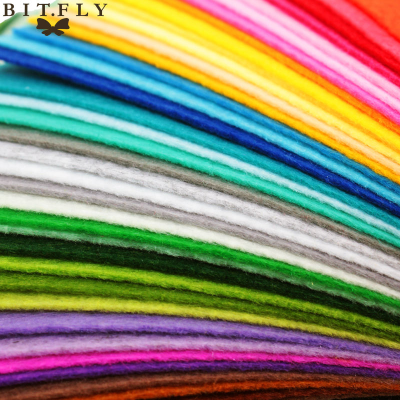 ALI shop ...  ... 32770502360 ... 2 ... High Quality Mix Colors Non Woven Felt Fabric 1mm Thickness Polyester Cloth Felts DIY Bundle For Sewing Dolls Crafts Free ship ...