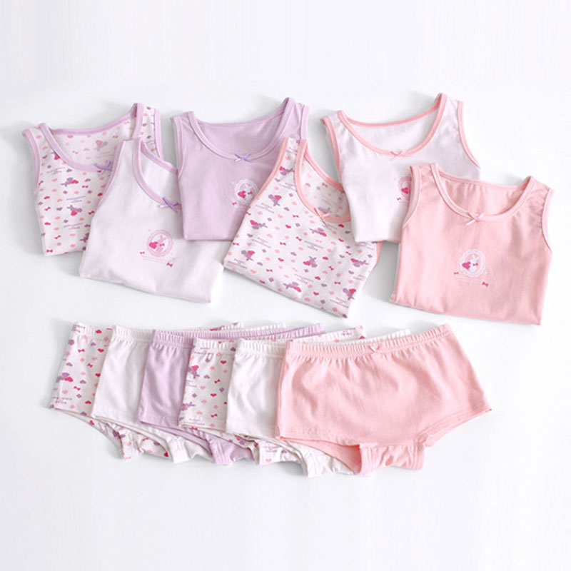 Girls Underwears Cotton Camisole Briefs 2pcs Sets Baby Girls Underwear Tank  Tops Shorts Panties For Kids Girls 2-12Y Underpants - buy at the price of  $23.59 in aliexpress.com | imall.com