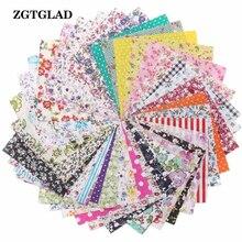 ZGTGLAD 10pcs 45x45cm Plain Cotton Fabric Patchwork For DIY Quilting Sewing Fat Quarters Bundle Tissue Home Decor Random Color
