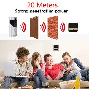 Image 5 - WIFI видео дверной звонок камера Интерком система беспроводной домашний ip дверной звонок телефон chime PIR 2 way аудио iOS Android питание от аккумулятора