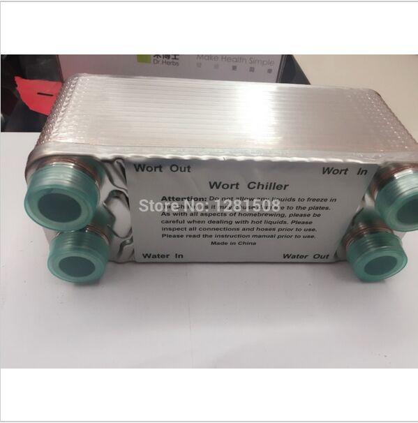 30 plaque de l'eau à l'eau échangeur de chaleur à plaques 7.5  x 2.9  3/4  npt, Ss304