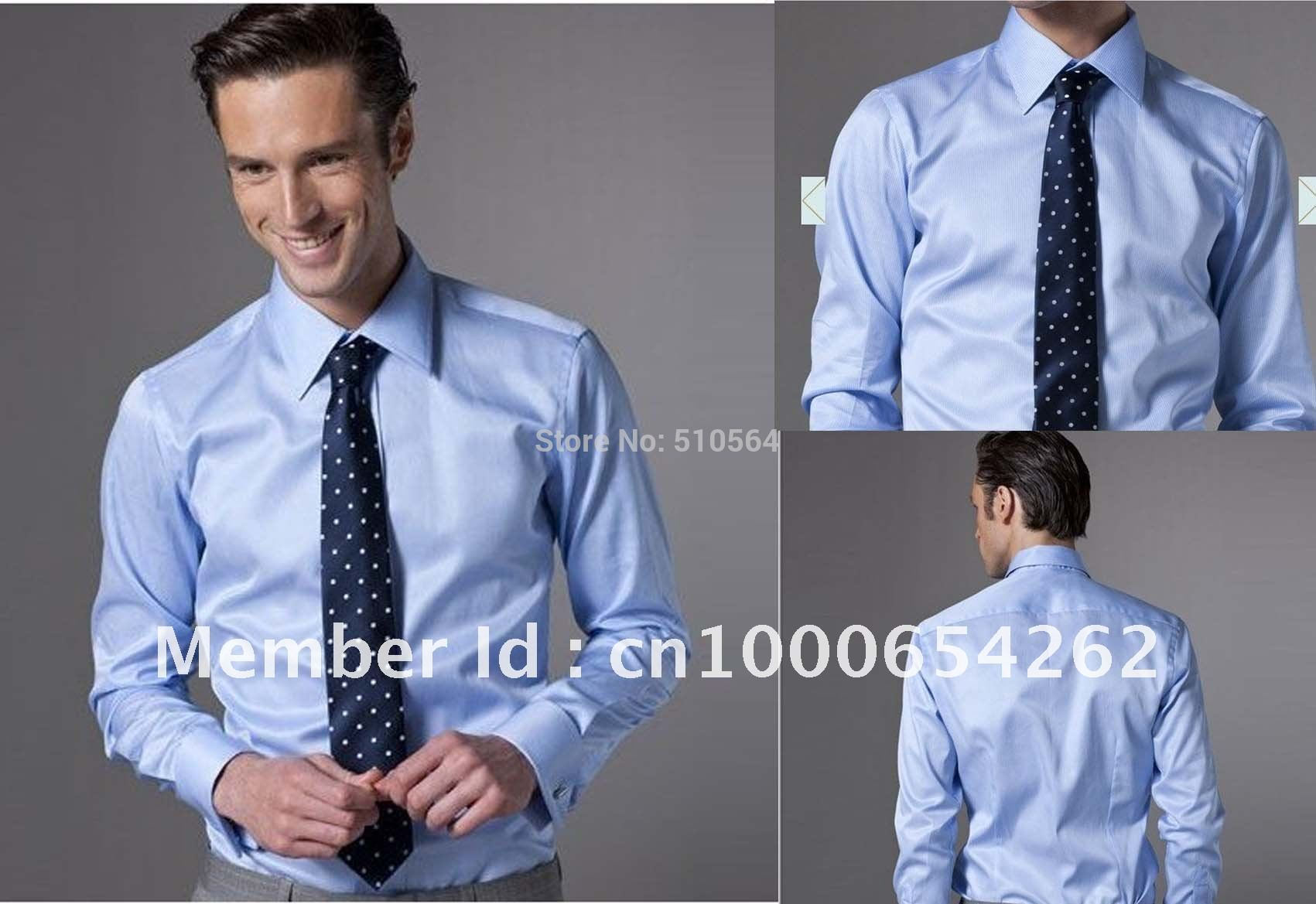 search for authentic great discount for sophisticated technologies US $39.0 |Custom made men Cotton light blue color shirt Business men shirt  Slim Fit your body well-in Casual Shirts from Men's Clothing on AliExpress  ...