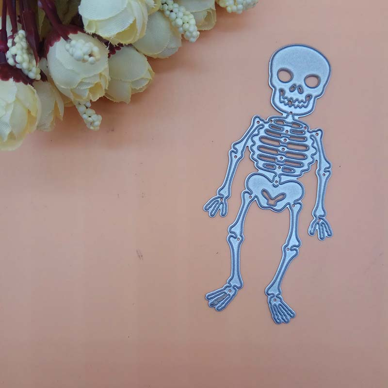 <font><b>Halloween</b></font> Skull Cutting <font><b>Dies</b></font> cutter Knife mold Paper cut Scrapbooking <font><b>Dies</b></font> Metal <font><b>Stamps</b></font> <font><b>and</b></font> <font><b>die</b></font> for Card Making DIY image
