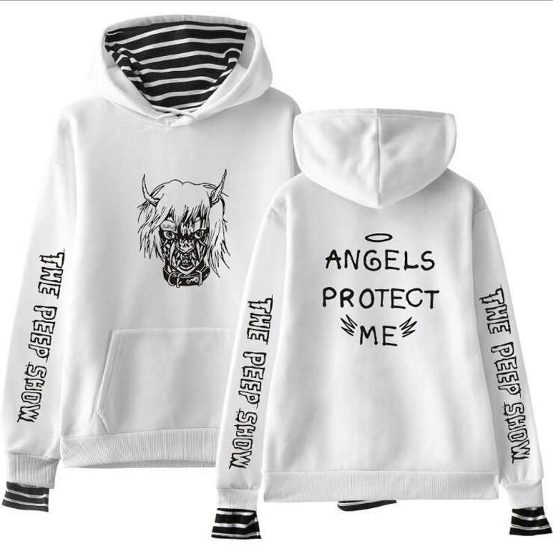 cfbc32ec73a1f rip LIL PEEP Crybaby Men/Women Hoodies Sweatshirt Striped Pachwork False  Two-Piece Fleece