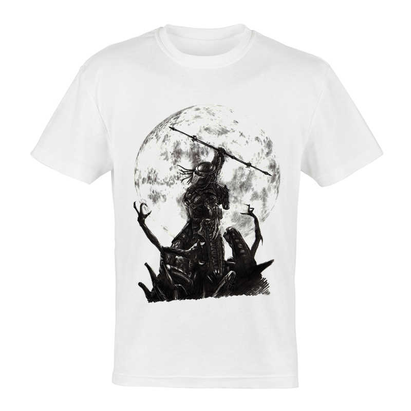 映画 AVP エイリアン vs プレデター Tシャツホワイトカラー半袖エイリアン AVP Darthworks Tシャツトップ Tシャツファッションメンズ AVP tシャツ